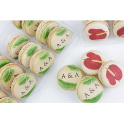 macarons avec les initiales des mariés